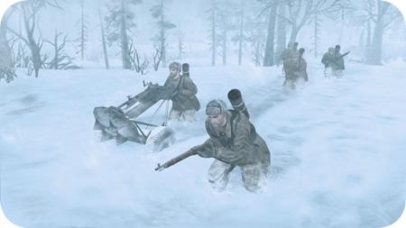Soldados congelados en Company of Heroes 2