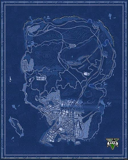 Mapa de Grand theft Auto 5 (GTA5)